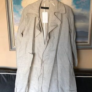 Zara Linen Trench Coat
